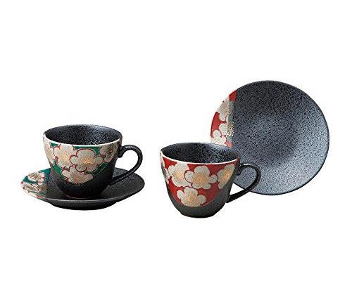 九谷焼 ペアコーヒー 梅の図