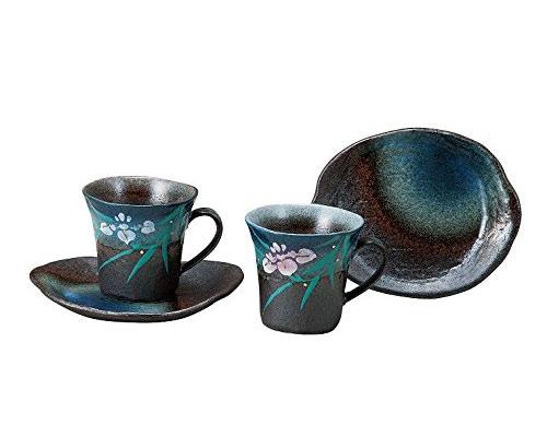 九谷焼 ペアコーヒー アヤメ