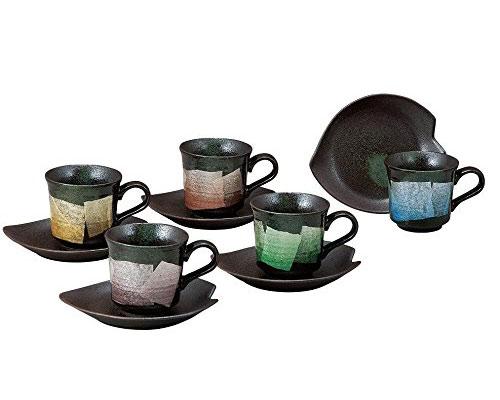九谷焼 コーヒーセット 銀彩