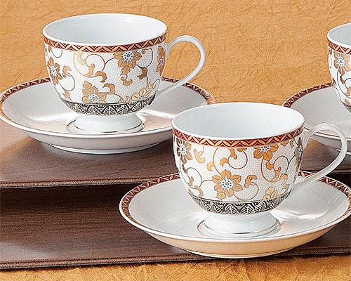 九谷焼 コーヒーセット 白粒鉄仙