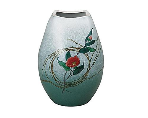 九谷焼 8号花瓶 柳むすび