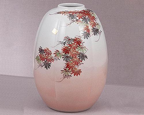 九谷焼 8号花瓶 もみじ