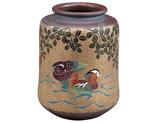 九谷焼 7号花瓶 おしどり 古田弘毅
