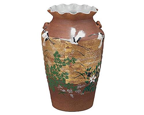 九谷焼 8号花瓶 金箔秋草