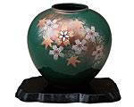 九谷焼 5.5号花瓶 花舞 台付