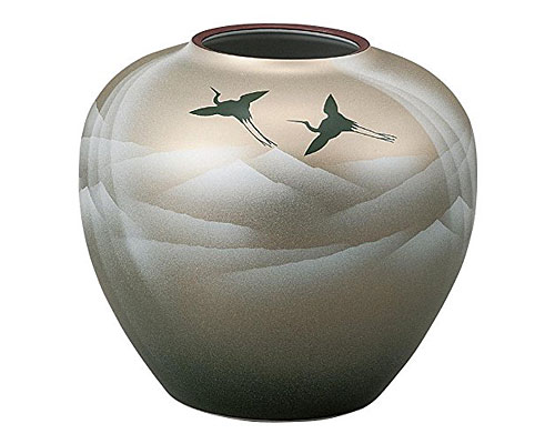 九谷焼 7号花瓶 銀彩山