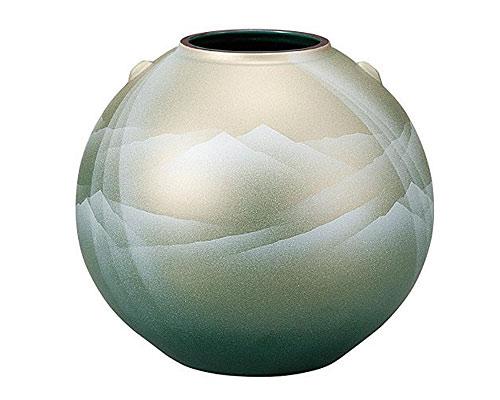 九谷焼 7号花瓶 陽光連山
