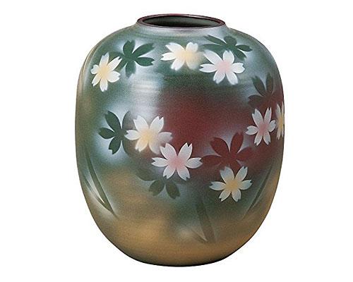 九谷焼 8号花瓶 花紋