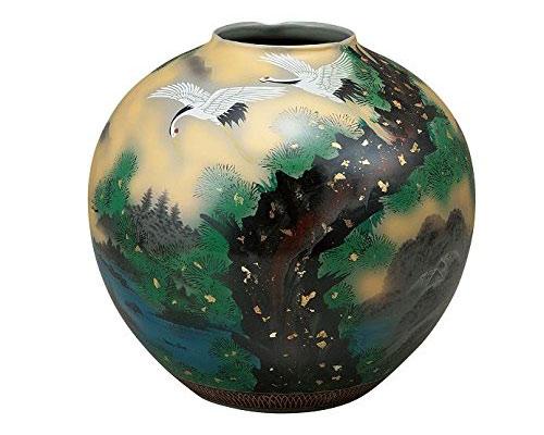 九谷焼 10号花瓶 金雲鶴