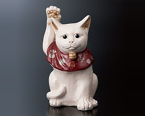 九谷焼 5号置物 招き猫 宮本直樹