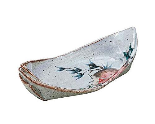 九谷焼 7.7号舟型鉢 ザクロの図 佐藤剛志