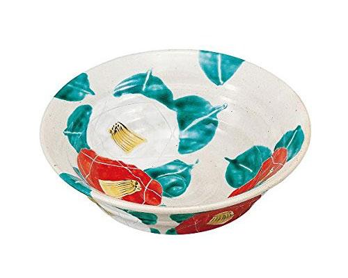 九谷焼 6号鉢 椿
