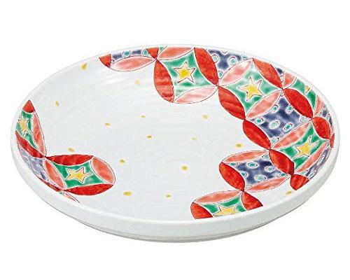 九谷焼 8.3号鉢 七宝ポップ 岡田絹代