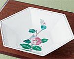 九谷焼 9号盛鉢 椿文 大志窯