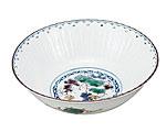 九谷焼 6号鉢 ぶどう文 銀泉窯
