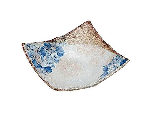 九谷焼 6号盛皿 藍椿 虚空蔵窯