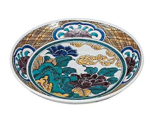 九谷焼 9号盛皿 牡丹