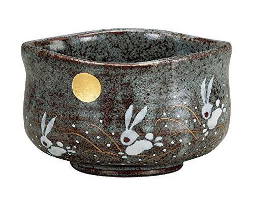九谷焼 抹茶碗 はねうさぎ
