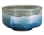 九谷焼 抹茶碗 銀彩ブルー