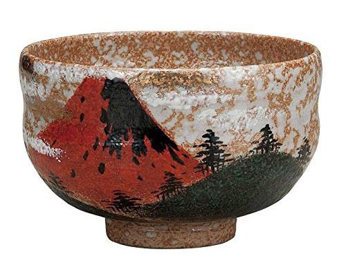 九谷焼 抹茶碗 赤富士