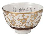 九谷焼 抹茶碗 白粒鉄仙