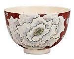 九谷焼 抹茶碗 牡丹
