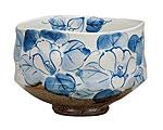九谷焼 抹茶碗 藍椿 虚空蔵窯