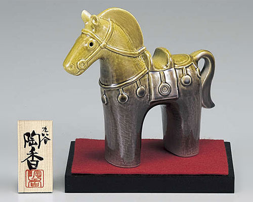 九谷焼 干支飾り 午(うま) 釉彩