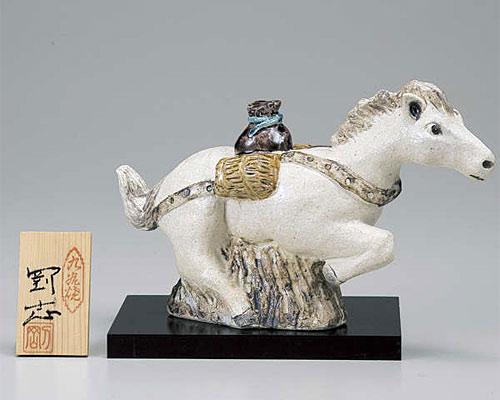 九谷焼 干支飾り 午(うま) 宝駒