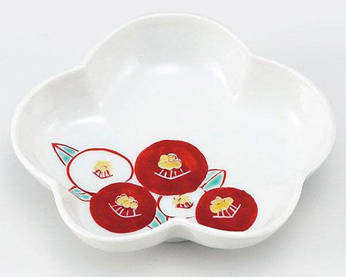 九谷焼 皿 3.5号皿 椿