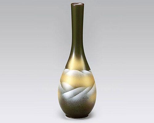 九谷焼 8.5号花瓶 フラワーベース 連山