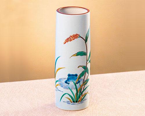 九谷焼 8号花瓶 フラワーベース 桜ちらし