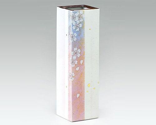 九谷焼 8号花瓶 フラワーベース 花の舞