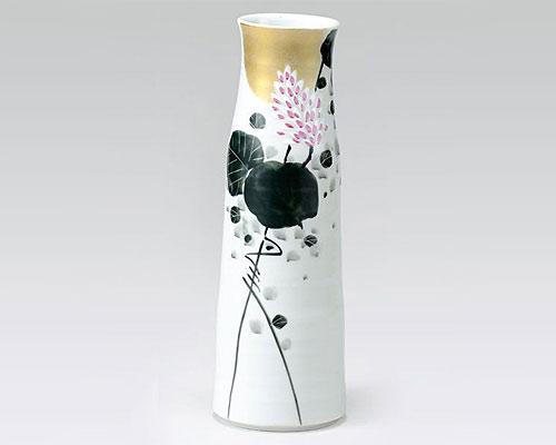 九谷焼 8号寸胴花瓶 フラワーベース 秋 福田良則