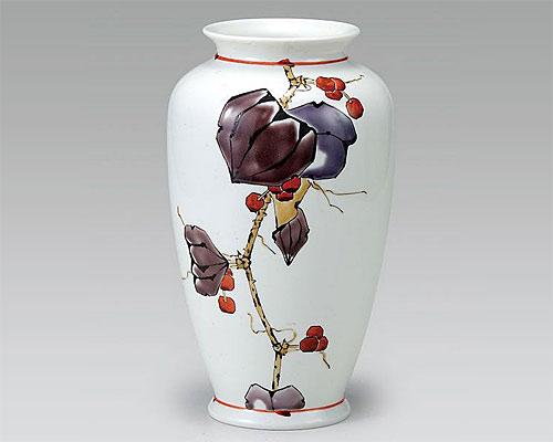 九谷焼 8号 花瓶 フラワーベース 山帰来 山近 泰