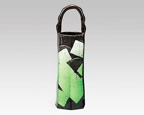 九谷焼 10号 花瓶 フラワーベース 銀彩