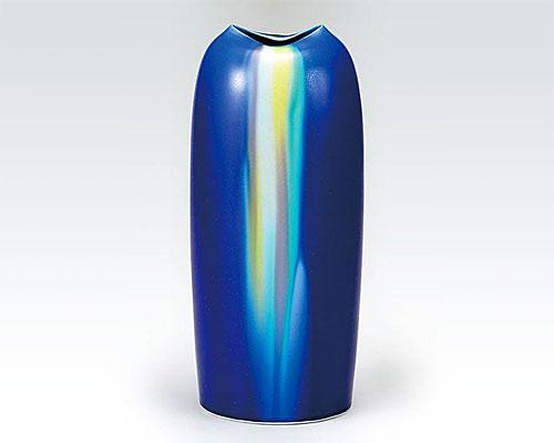 九谷焼 8号 花瓶 釉彩 博峰窯