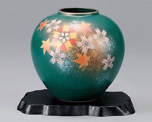 九谷焼 5.5号花瓶 フラワーベース 花舞