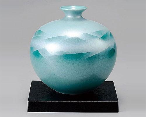 九谷焼 6号 花瓶 フラワーベース 連山