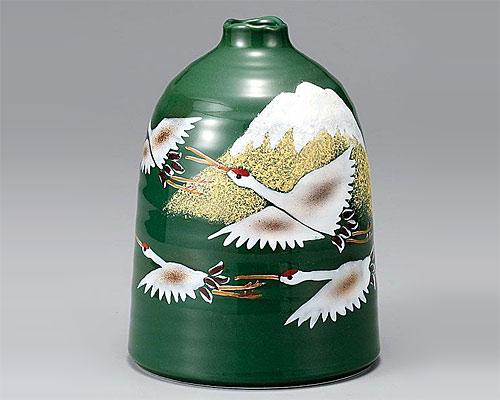九谷焼 6.5号花瓶 フラワーベース 群鶴