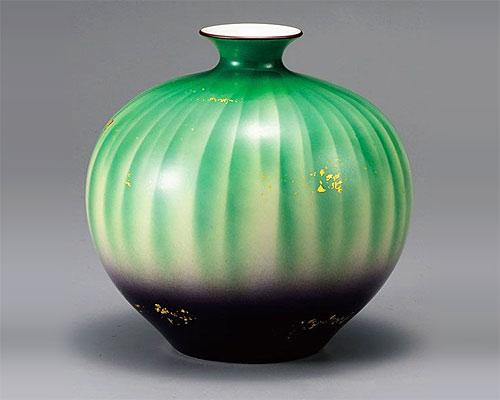 九谷焼 7号 花瓶 フラワーベース 彩光 山田登陽志