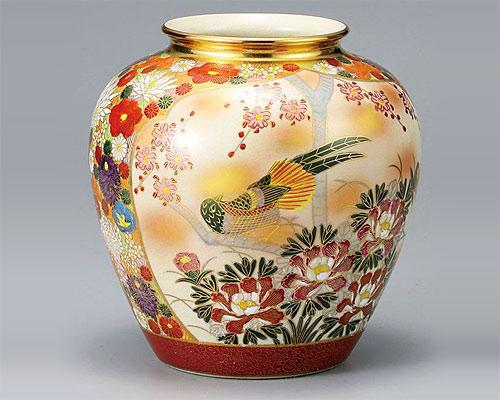 九谷焼 7号 花瓶 フラワーベース 割取花詰