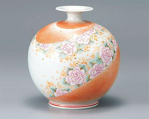 九谷焼 7号 花瓶 フラワーベース 薫風 福田良則