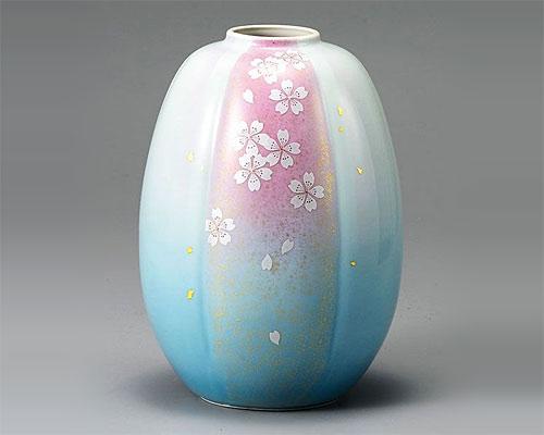 九谷焼 8号 花瓶 フラワーベース 花舞 山崎幸山