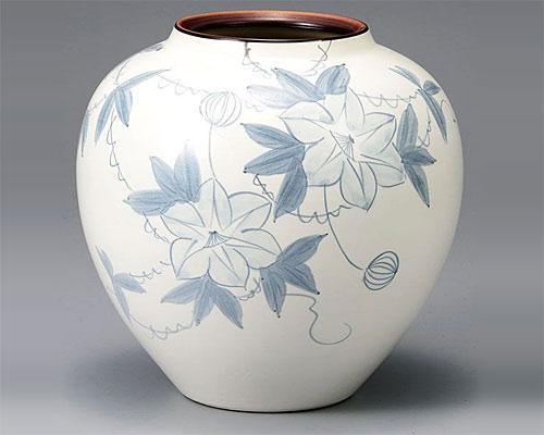 九谷焼 8号 花瓶 フラワーベース 鉄仙