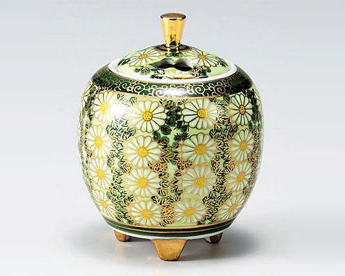 九谷焼 香炉 3.3号 菊詰