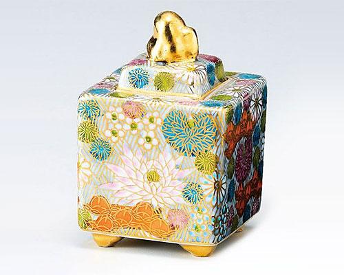 九谷焼 香炉 3号 金花詰