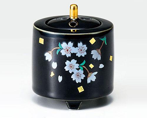 九谷焼 香炉 3号 桜