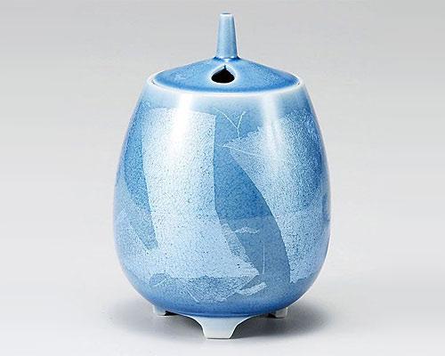 九谷焼 香炉 4号 銀彩