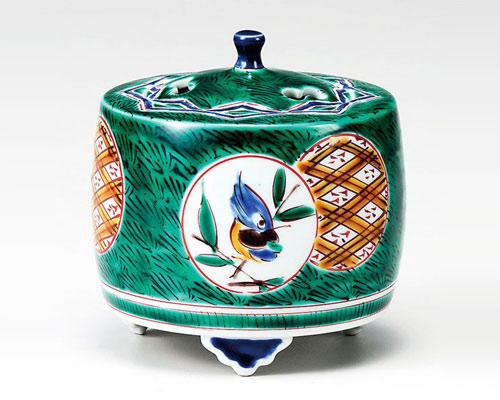 九谷焼 香炉 3.3号 古九谷丸紋